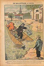 Caricature Politique Antiparlementaire Ballotage Franc-Maçons 1912 ILLUSTRATION
