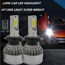 Super Bright 110W H7 20000LM CREE COB LED Headlight 12V Car Conversion Bulbs Kit