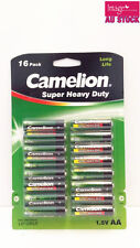 Pack of 16pcs Camelion AA Batteries Super Heavy Duty 1.5V Long Life