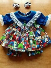 "New Listing16"" Cabbage Patch Outfit - Bright Multicolored Nutcracker Print Dress"