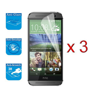3 x Screen Protector Cover Guard Film Foil For HTC One M8 M 8