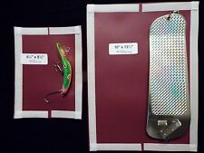 #9m-Salmon Large Flasher 10X13.5 and & Lure Cover 6.5X8.5 Combo Pack MAROON
