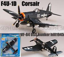 F4U-1D Corsair MK2 VF-84 USS bunker hill aircraft 1/72 plane finished Easy model