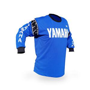 Vintage Style Blue Yamaha Motocross Jersey MX Enduro AHRMA motorcycle Hannah