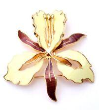 Enamel flower brooch pin -Yellow