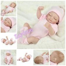 "US 11"" Lifelike Newborn Baby Girl Full Vinyl Soft Silicone Reborn Doll Xmas Gift"