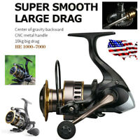 Freshwater or Saltwater Spinning Fishing Reels HE1000-7000 Smooth & Powerful US