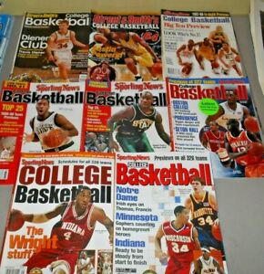 College Basketball Preview Magazines 1997-2005 - Street & Smith's Sporting News