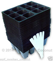 720 Cell Seedling Starter Trays, Seed Germination +5 Plant Labels; 10x20 Flats