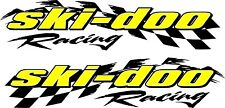 "Ski-doo racing checker snowmobile 2 sticker decal set 11"" x 48"""