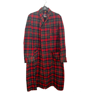 Vintage Pendleton 100% Wool Tartan Plaid Women's Authentic Long Jacket Coat