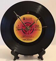 "Recycled JIMMY BUFFETT 7"" Record / Margaritaville / Record Clock"