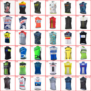 Team Men Cycling Jersey Bicycle Vest Summer Sleeveless Bike Shirt Racing Clothes
