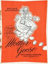 MANCHESTER PALACE 1956-57 'MOTHER GOOSE' AL READ  GEORGE LACY BROCHURE.