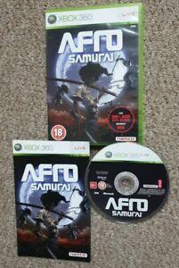 Afro Samurai Microsoft Xbox 360 game pal with manual