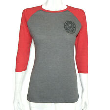 RED DOG SURF SHOP Est 89 Gray Red Sleeve Women's Baseball T-Shirt Tee size XS/S