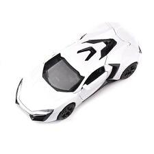 1:32 Diecast White Lykan Hypersport Sports Car Model w/ Sound & Light collection