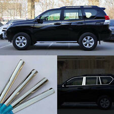 24pcs Stainless Steel Chrome Full Window Frame Sill Cover Trim For Toyota prado