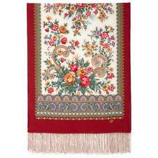 1767-55 AUTHENTIC PAVLOVO POSAD RUSSIAN SHAWL 100% MERINO WOOL SCARF DRESS WRAP