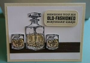 Handmade Masculine Birthday Card Old Fashion Cocktail Using Stampin Up Whiskey