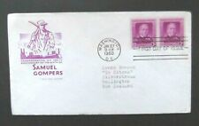 US to NZ-1950-Samuel Gompers FDC-Washington