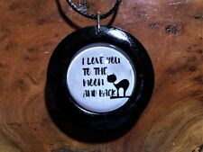 I Love you to the Moon and Back Pendant in Wood, friendship,moon,anniversary,cat