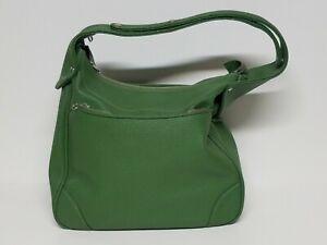 Vtg 1970's Samsonite Saturn Travel Bag Purse Avocado Green Lock Adjustable Strap