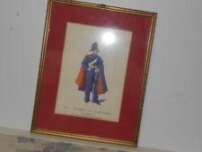 Vtg. Italian Military Museum Carabiniere a Cav.1834 Piccola Montura Framed Print
