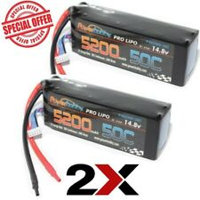 New 50C Lipo Battery 2 pack for 1/8 Buggy Truck Truggy 4S 14.8V 5200mAh