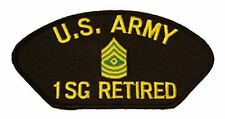 US ARMY FIRST SERGEANT 1SG RANK RETIRED PATCH E-8 ENLISTED NON COM TOP
