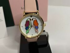 Kate Spade Women's Metro Parrot Blush Leather Strap Watch KSW1521 NEW IN BOX!!