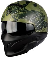 Scorpion EXO Combat Ratnik Green Motorcycle System Jet Helmet With Additional M