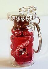 MINIATURE NOVELTY JAR OF LINDT LINDOR CHOCOLATES KEYRING/BAG CHARM