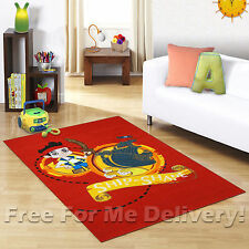KIDS EXPRESS JAKE NEVERLAND PIRATE FUN FLOOR RUG (XS) 100x150cm **FREE DELIVERY*