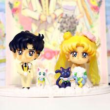 "Sailor moon Petit Chara feliz Boda 2"" Figure Mega Japón Muñeca Linda Sin Caja"