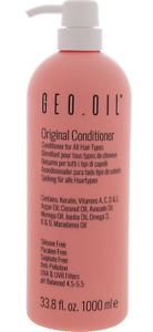 GEO OIL Keratin, Vitamins A, C, D and E Conditioner 1000 ml 1L Vegan Eco