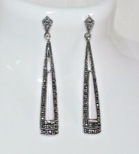 Of Pearl Marcasite Earrings 925 Solid Silver Mother