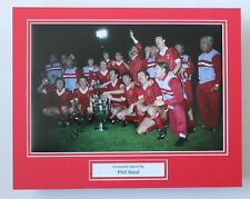 More details for phil neal liverpool hand signed autograph photo mount memorabilia display coa