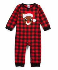 RUDOLPH THE REDNOSE REINDEER BUFFALO PLAID COVERALL FIRST CHRISTMAS, 3M, NWT!