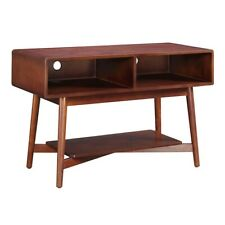 Convenience Concepts Savannah Mid Century TV Stand, Mahogany - 7303070