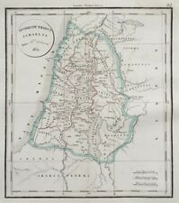 Ancienne CARTE DUODECIM ISRAEL F. Delamarche 1852 Palestine Judée Jerusalem