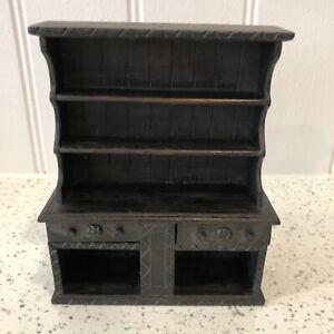 Dolls house miniature 1:12 HANDMADE Medieval Tudor dresser / hutch