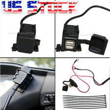 Motorcycle Dual Ports USB Charger For Harley Ultra Classic Electra Glide US