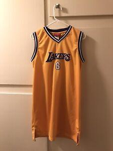 Los Angeles Lakers Kobe Bryant #8 Reebok Stitched Jersey Women's Dress Size XL