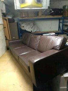 Beautiful leather 3 seater lounge