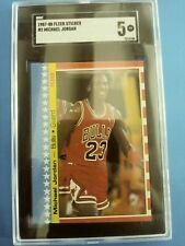 1987 Fleer Sticker # 2 Michael Jordan SGC 5 EX