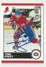 10/11 Score Tom Pyatt Montreal Canadiens Autographed Hockey Card