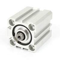 SDA 25x25 25mm Bore 25mm Stroke Dual Action Air Cylinder Silver Tone