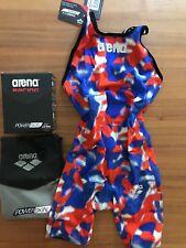 Arena Powerskin Carbon Pro Mark 2 Race Suit Women size US32 open back READ LOGO