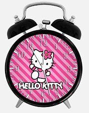 "Hello Kitty Alarm Desk Clock 3.75"" Room Decor W23 Nice for Gifts Wake Up"